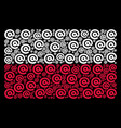 poland flag pattern of email symbol items vector image vector image