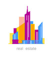 real estate template design vector image vector image