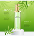 realistic 3d detailed perfume ads concept banner vector image