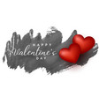 red hearts on grunge background design vector image vector image