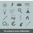 science icon collection vector image