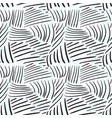 seamless pattern with chaotic line textures hand vector image