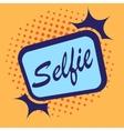 Selfie background frame vector image