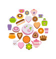 set of confection on white vector image