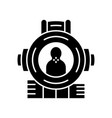 shooting aim glyph icon shooter from first person vector image