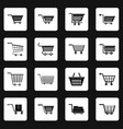 shopping cart icons set squares vector image vector image