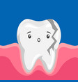 sick broken tooth vector image vector image