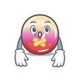 silent jelly ring candy mascot cartoon vector image vector image