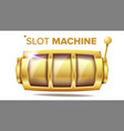 slot machine golden lucky empty slot vector image vector image