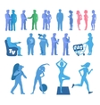 Sport physical inactivity silouete set Habits vector image vector image