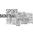 sport word cloud concept vector image vector image