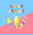 summer multicolor banner with ice cream vector image