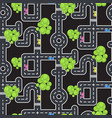 top view roads and streets seamless pattern vector image vector image