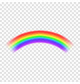 transparent rainbow isolated on background vector image