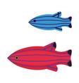 tropical funny aquarium fish icon in flat vector image