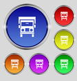 Truck icon sign Round symbol on bright colourful vector image vector image
