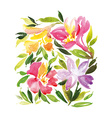 Watercolor greeting card flowers