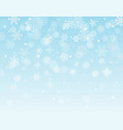 winter background with snowflakes and blank the vector image vector image