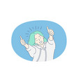 woman expressing positive emotions concept vector image