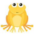 yellow frog with happy face vector image