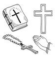 Christian hand-drawn symbols vector image