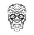 Black and White tattoo Skull vector image