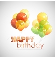 happy birthday background with colorful vector image