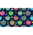 Seamless cute bright colorful retro apple pattern vector image