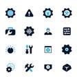 setting icons set vector image