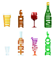 Figurative Typography Alcohol vector image