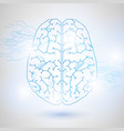 technology low poly design of human brain vector image