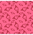 Valentines Day pink seamless pattern with hearts vector image