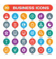 30 business creative icons in flat style vector image