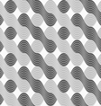 3D shades of gray interlocking striped waves vector image vector image