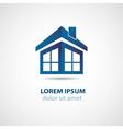 Abstract house logo vector image