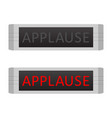 applause warning board message set vector image vector image