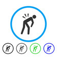 backache rounded icon vector image vector image