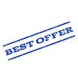 Best Offer Watermark Stamp vector image vector image