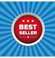Best seller button vector image vector image