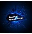 Black friday sale banner with explode on vector image vector image