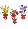 Bouquets vector image vector image