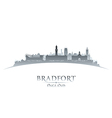 Bradfort England city skyline silhouette vector image vector image