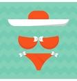 bright summe bikini vector image vector image