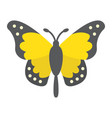 butterfly flat icon easter and holiday vector image