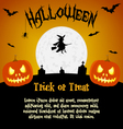 Cartoon halloween with text fields vector image vector image