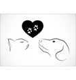 Cat and dog needs love vector image vector image