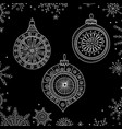 christmas tree decoration baubles line art vector image vector image