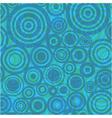 circles retro background vector image vector image