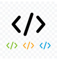 code symbol icon isolated vector image