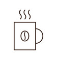coffee mug isolated linear icon vector image vector image